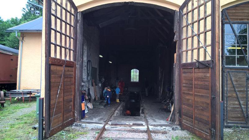 Kärrgruvans lokstall, öppet hus 2016-08-21